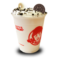 Twisted Vanilla Frosty with OREO