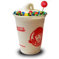 Twisted Vanilla Frosty with M&M